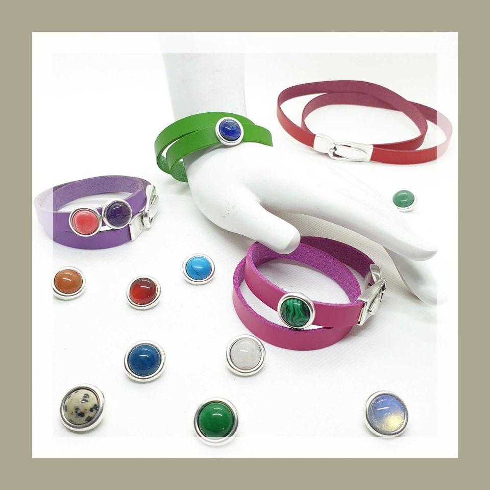 Wickelarmbänder mit Edelsteinen